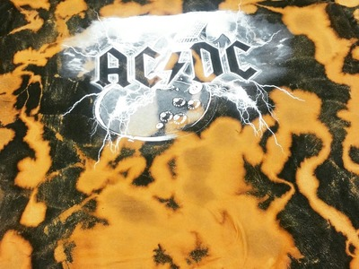 *DIY* Bleached Washed Rocker T-Shirt Fear of God Style. Kanye West Fashion