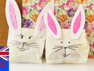 DIY BUNNY GIFT WRAP IDEA   for children or the best friend   easy, fast & super sweet