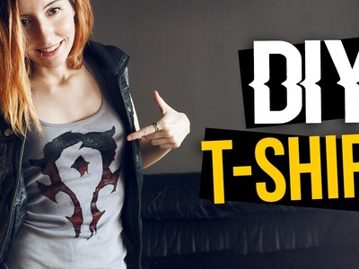 DIY Cómo hacer camiseta · How to make T-Shirt · World of Warcraft Horde symbol