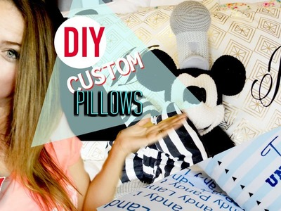 DIY Custom Pillows For The Whole Family! | Tay from Millennial Moms