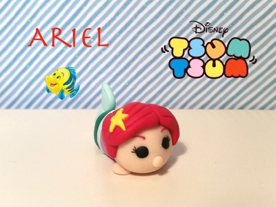 DIY Disney Tsum Tsum Ariel from The Little Mermaid - Polymer clay tutorial