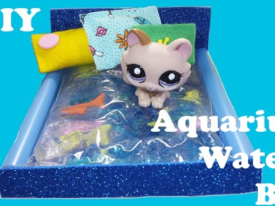 DIY Doll Aquarium Fish Tank Water Bed for LPS & Mini Dolls