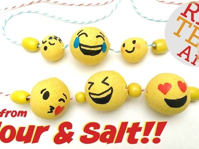 DIY Emoji Beads from Flour & Salt!