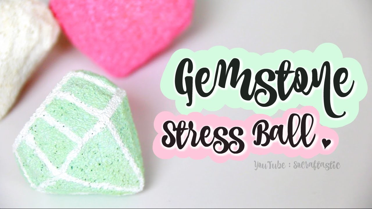 DIY Gemstone Stress Ball. Diamond Squishy. How to make Gems that Squish!