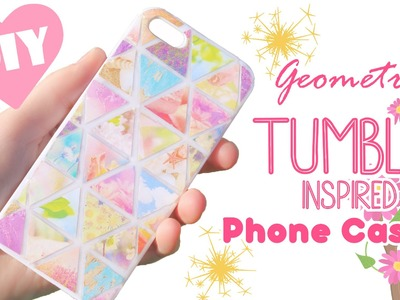 DIY Geometric Tumblr Inspired Resin Phone Case Tutorial