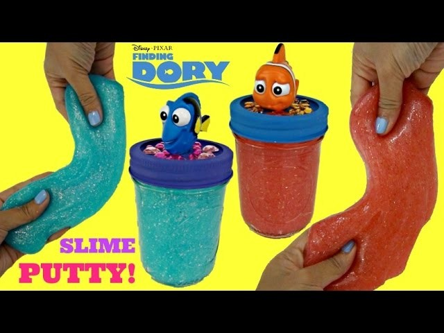 DIY! Glitter SLIME Putty WITHOUT BORAX Finding Dory, Marlin, Do It Yourself Fun Kids Craft. TUYC