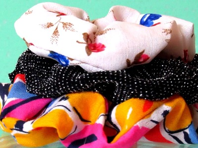 DIY Hair Scrunchie -  How To Sew Easy Scrunchie For Hair - Simple Crafts