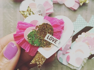 DIY - Heart Embellishments for Scrapbook & Project Life