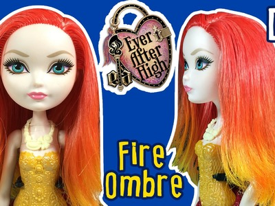 DIY - How to: Fire Ombre Hair for Barbie Doll - Barbie Hair Tutorial - Making Kids Toys