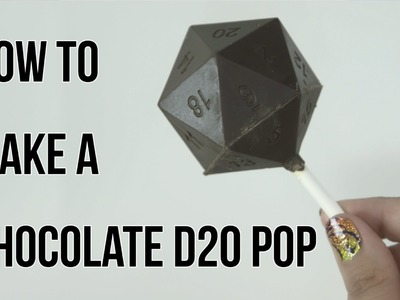 DIY: How to make a chocolate D20 pop!