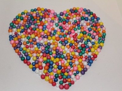 DIY-How To Make a heart with Thermocol Balls