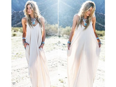 DIY. How To Make A Maxi Dress ( Easy Sewing)