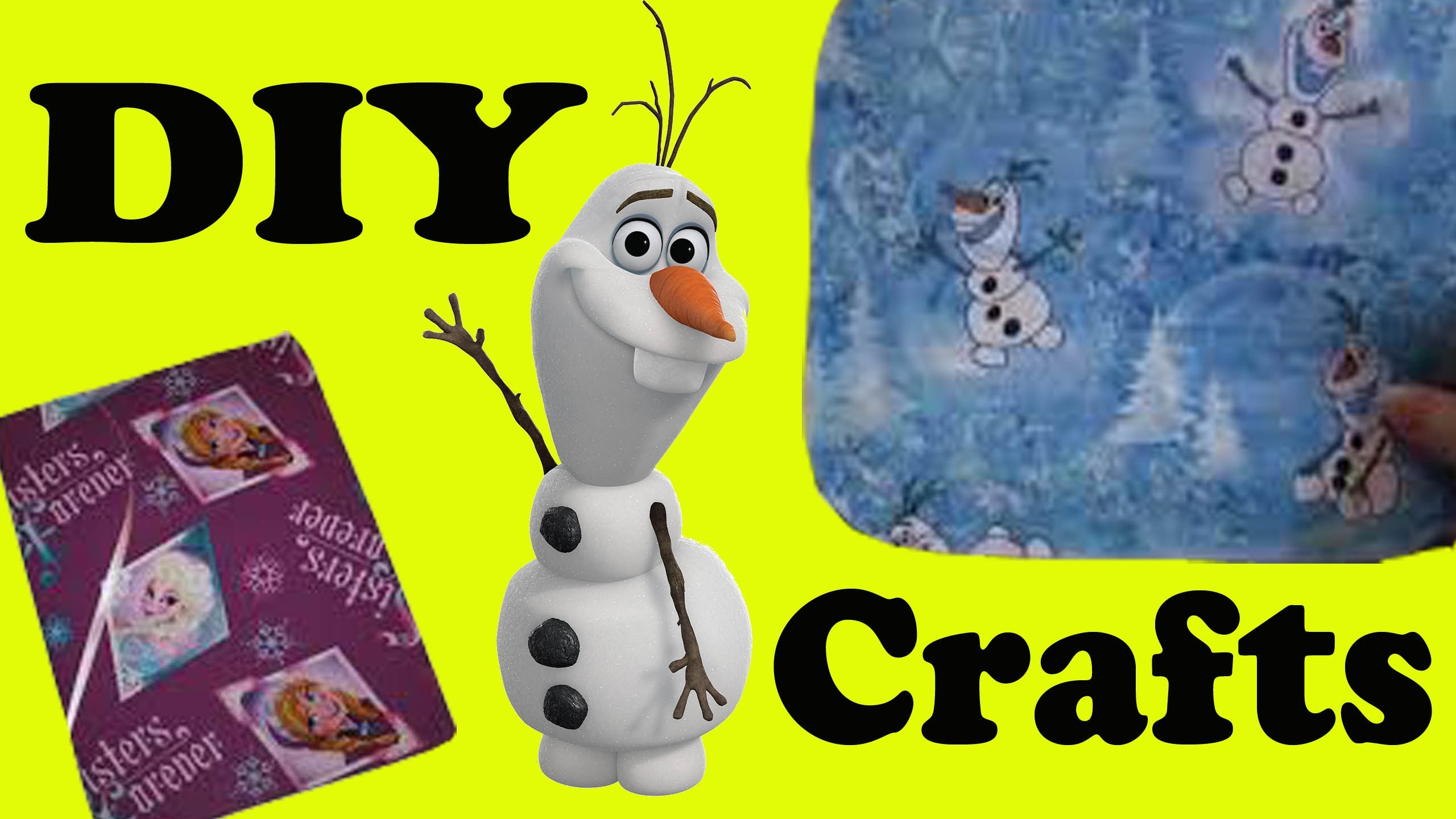 DIY How to Make PROJECTS compilation OLAF Fabric Covered Journal SPONGEBOB Mouse Pad Easy FUN