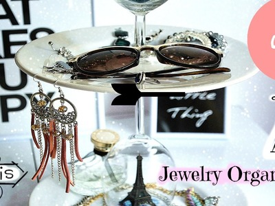 DIY Jewelry Organizer vs Cupcake Holder- Paris inspiration (super easy to make)