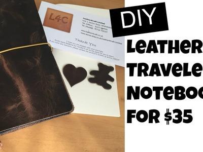DIY Leather Traveler's Notebook   Leather4Craft Unboxing + TN Setup