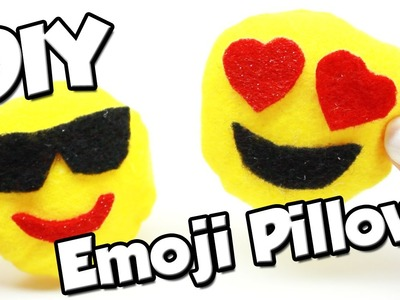 DIY - miniature emoji pillow (super cute!) - no sew!