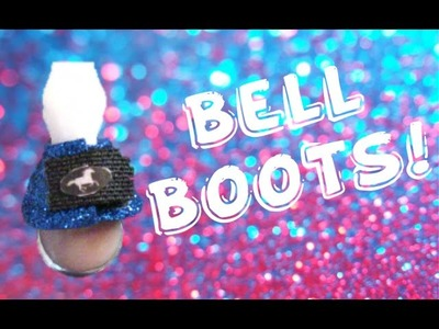 DIY Model Horse Glittery Bell Boots Tutorial