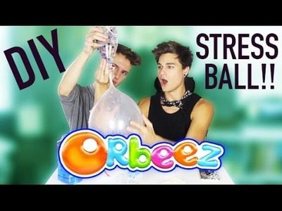 DIY ORBEEZ STRESS BALL | HOW TO MAKE JUMBO SQUISHY BALL FEAT. BRADLEE