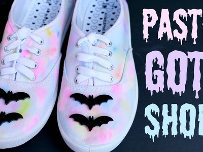 DIY Pastel Goth Tumblr Shoes