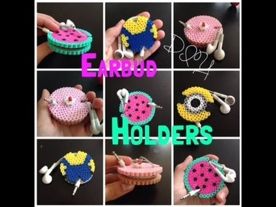 DIY Perler Bead Earbud Holders.Adorable Watermelon, Cake, Minion Holders!