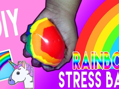 DIY | Rainbow Stress Ball - HOW TO MAKE A STRESS BALL WITHOUT BALLOONS!!!