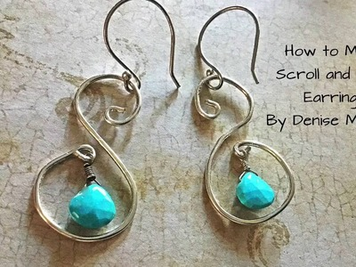 DIY Scroll and Bead Earrings by Denise Mathew