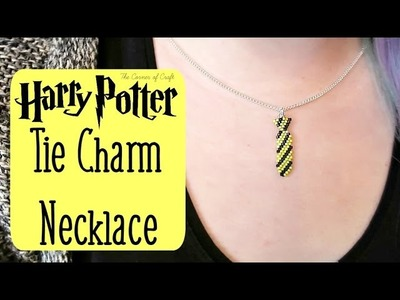 DIY Seed Bead Harry Potter Tie Charm Necklace How To. Bead Weaving. ¦ The Corner of Craft