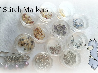 DIY Stitch Markers for Knitting