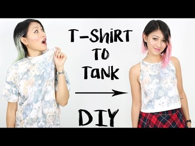 DIY: T-Shirt into High Neck Tank Top