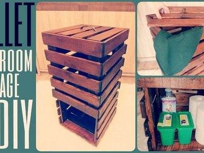 DIY Tutorial: How To Make A Bathroom Storage From Recycled Wooden Pallets