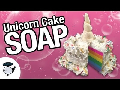 DIY Unicorn Cake Soap! Melt and Pour + Soap Clay Tutorial