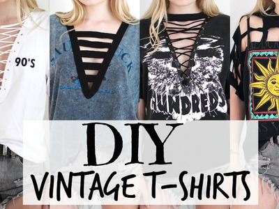 DIY Vintage T-Shirts + Lace Up Tee