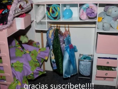 Easy DIY DOLL HOUSE bedroom furniture CASA DE MUNECAS