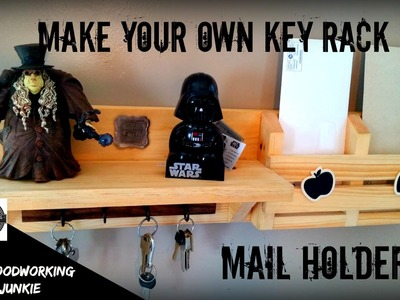 How to make a DIY key rack shelf. mail holder