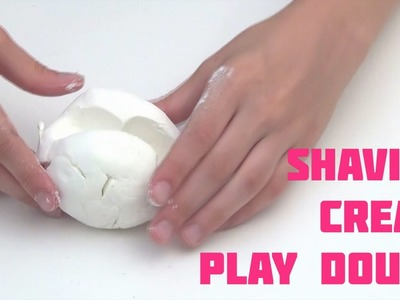 How to make PLAY DOUGH with Shaving Cream - Easy recipe DIY