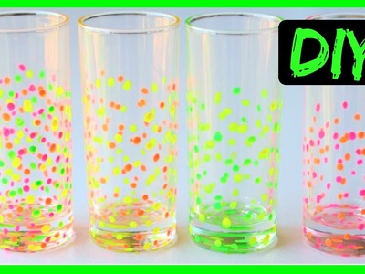 How to Paint Glasses  | Confetti Drinking Glasses DIY | Ali Coultas