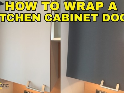 How to Wrap a Kitchen Cabinet Door - DIY Vinyl Wrapping Tutorial for Kitchens & Furniture