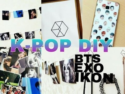 K-POP DIY ROOM DECOR (EXO-MONSTER,BTS. )EASY DIY