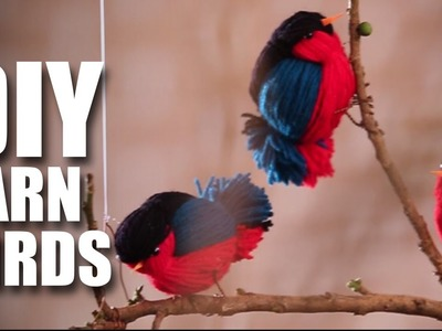 Mad Stuff With Rob - DIY Fun Wooly Birds | Room Decor Ideas