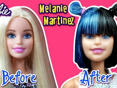 Melanie Martinez Hair Tutorial for Barbie Doll - Barbie Haircut Tutorial - DIY - Making Kids Toys