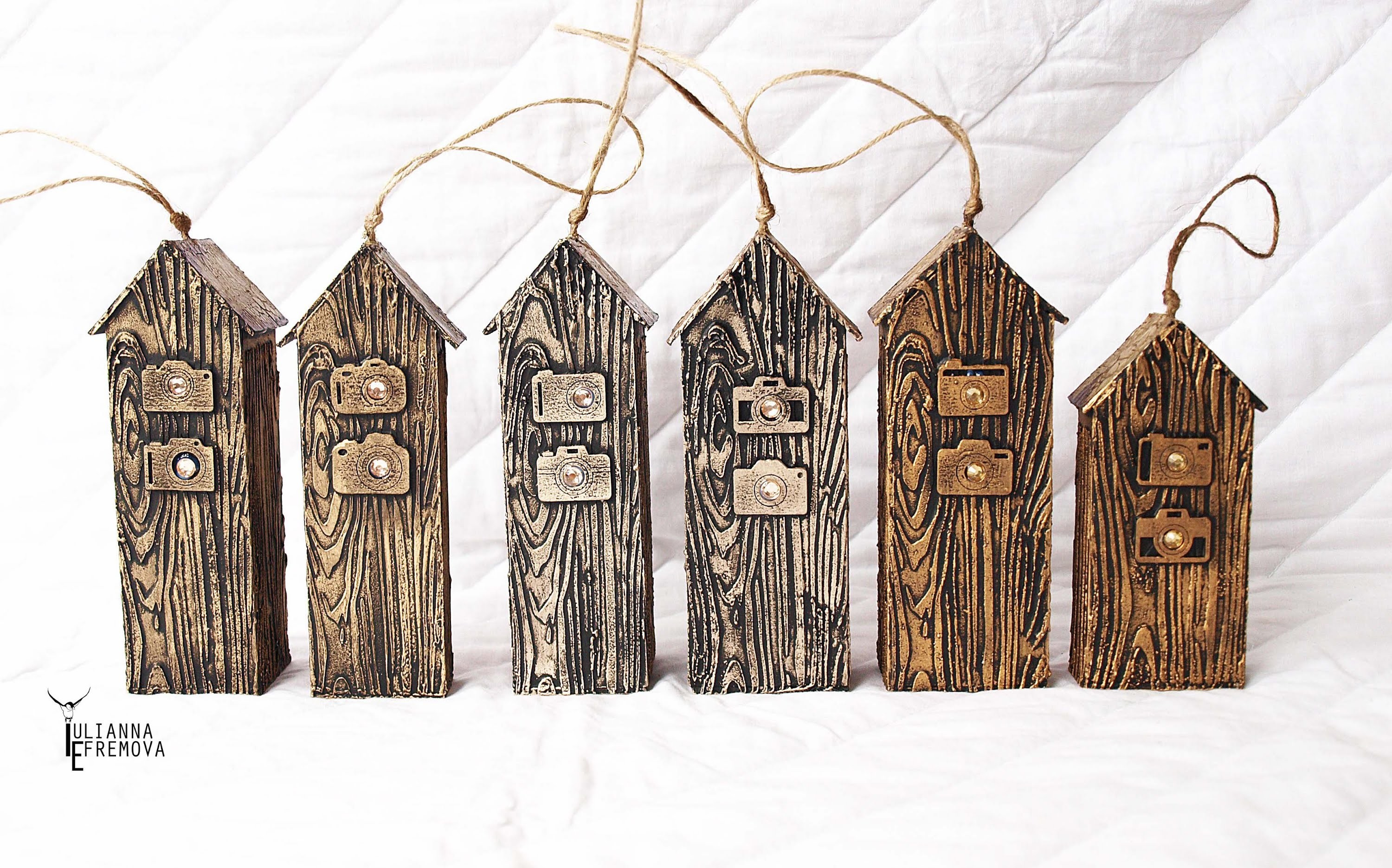 "Mixed Media ""Wooden Houses"" Tutorial for MMW"