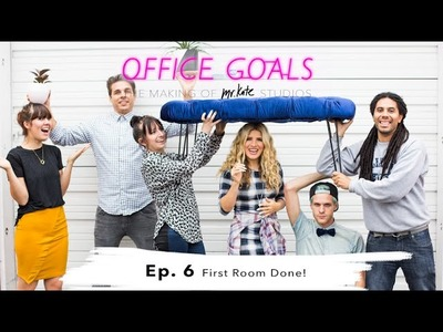 Office Goals Episode 6: First Room Done! | Lobby Transformation & DIY Office Design | Mr Kate