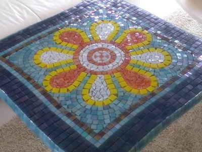 PART 1: DIY Mosaic Garden Table - Design & Glue Tiles