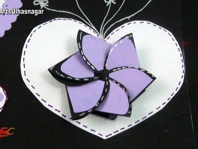 Small Paper Flower  Card For Scrapbooks | How to make | JK Arts 983