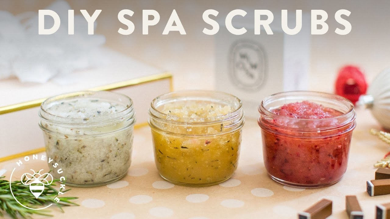 3 DIY SPA SCRUBS - Honeysuckle