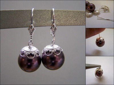 Beautiful Pearl Earring Tutorial