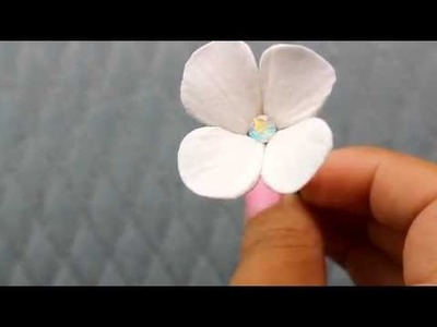 Clay Hydrangea Hair Flower  from Hair Comes the Bride