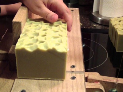 Cutting Traditional Aleppo Soap, & Stamping the soap.