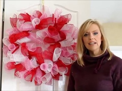 Deco Mesh Valentine's Wreath Tutorial Part 1