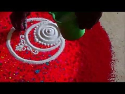 Diwali special rangoli with best colour combination by satish thavi